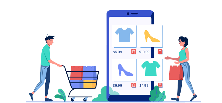 ecommerce grocery infographic
